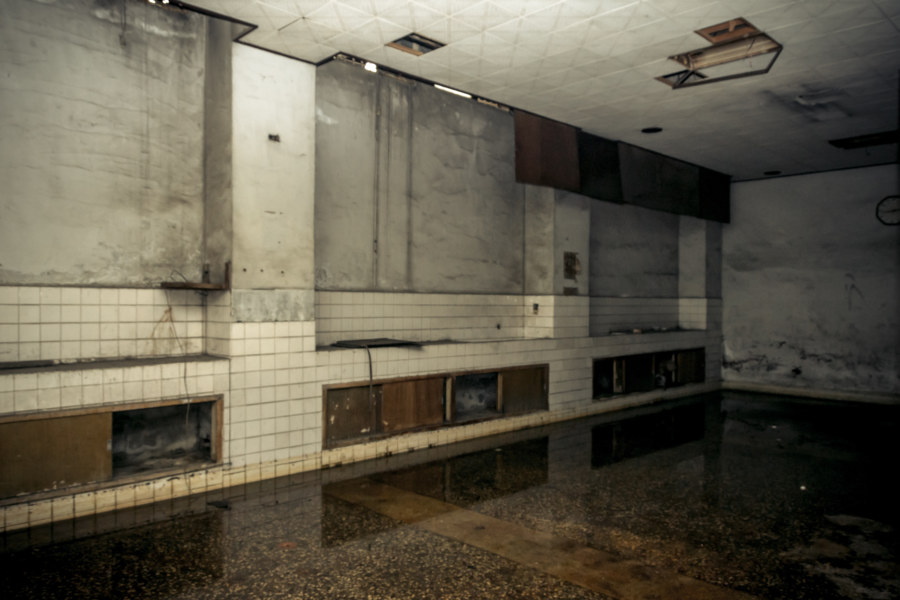 The flooded basement of an abandoned hospital in Tainan