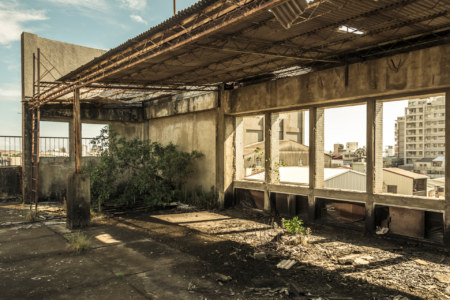 Wandering around the rooftop of an abandoned hospital