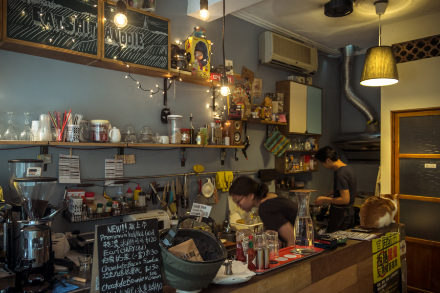 Inside Fat Cat Deli