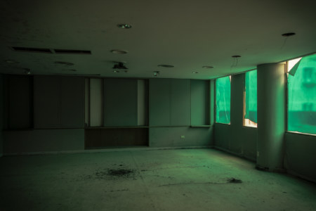 The green room on the second floor