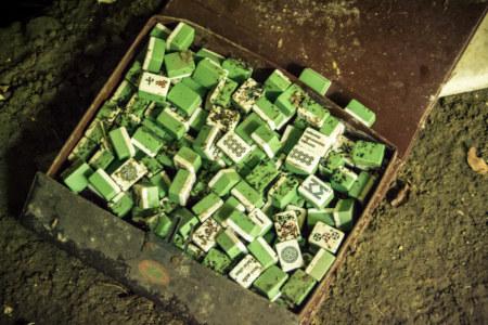 An abandoned mahjong set
