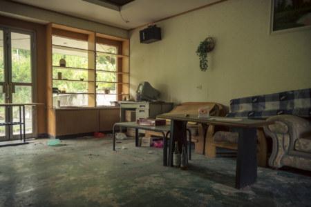A lounge inside Spring grass gardens 春草園