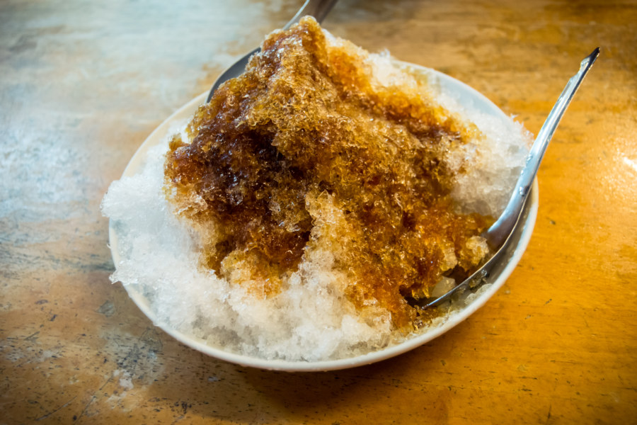 Traditional shaved ice in Tainan