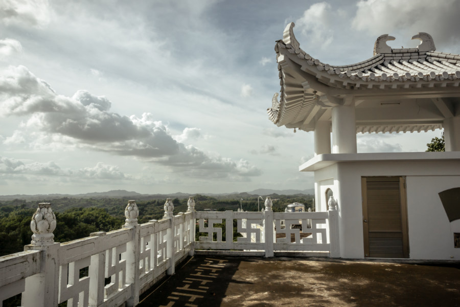 Looking north from Putuoshan White Temple