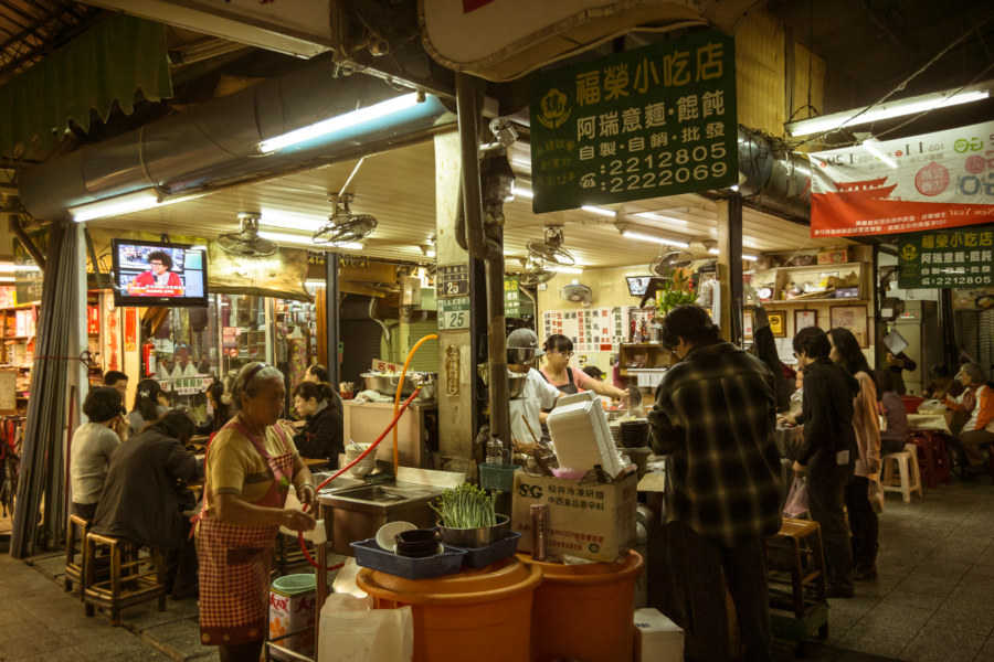 A popular eatery within the covered market