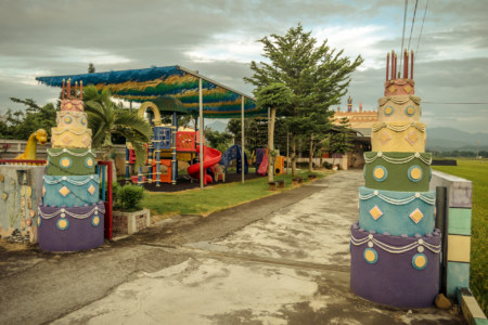 A children's playground in rural Tainan