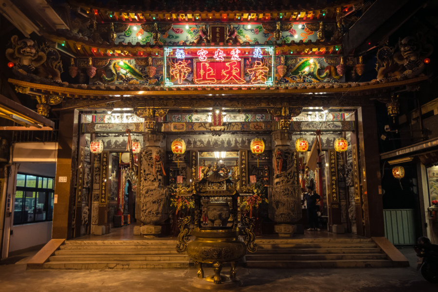 A temple in Chiayi city 嘉義市