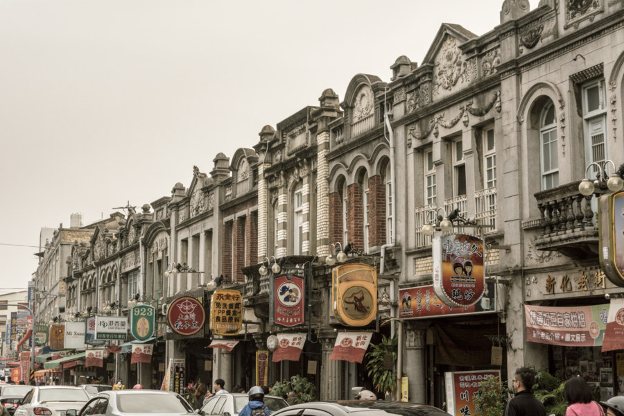 Baroque revival storefronts in Xinhua