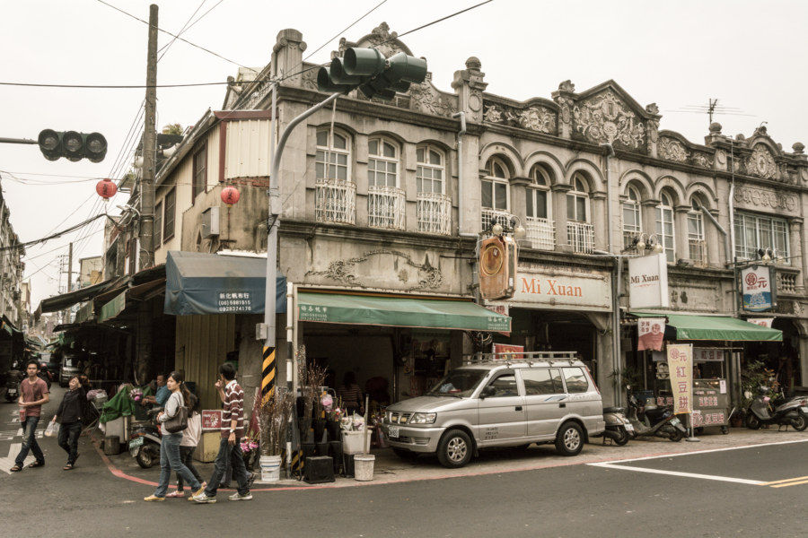 The south end of a historic city block in Xinhua