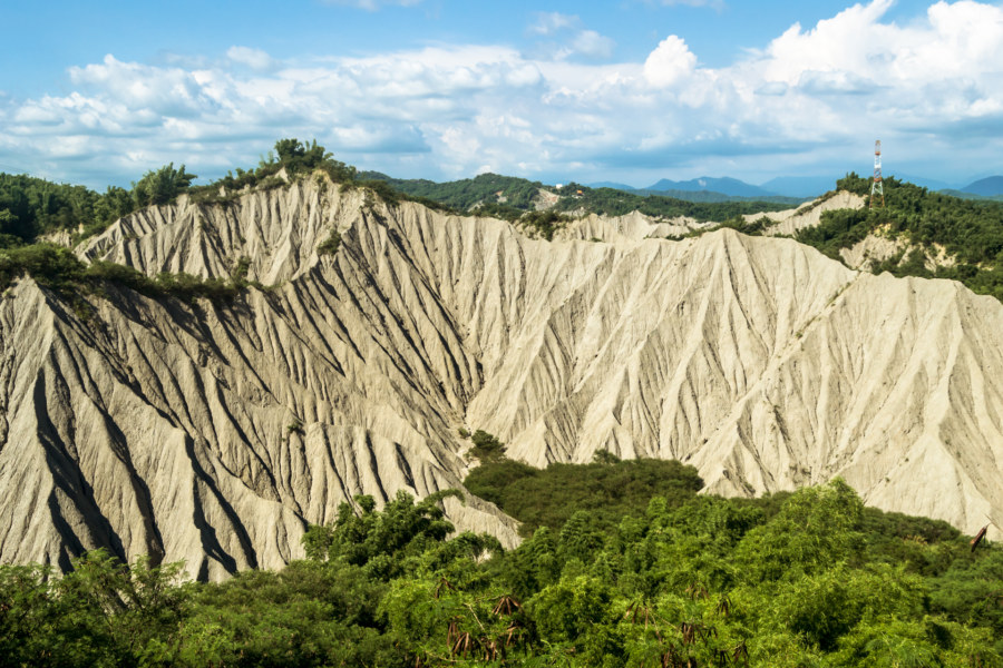 Cycling through the badlands of Taiwan
