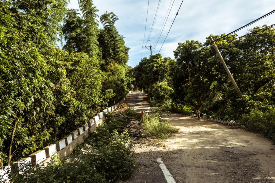 A broken road through the badlands of Taiwan