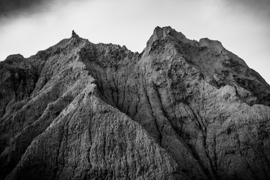 The badlands of southern Taiwan