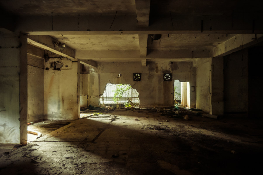 The basement of an abandoned building in Beitou