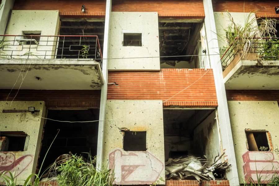 An abandoned hot springs hotel in Beitou