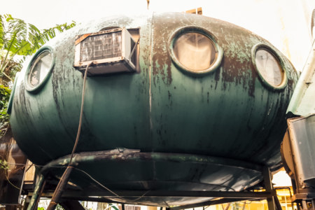 Air conditioned UFO house in Da'an