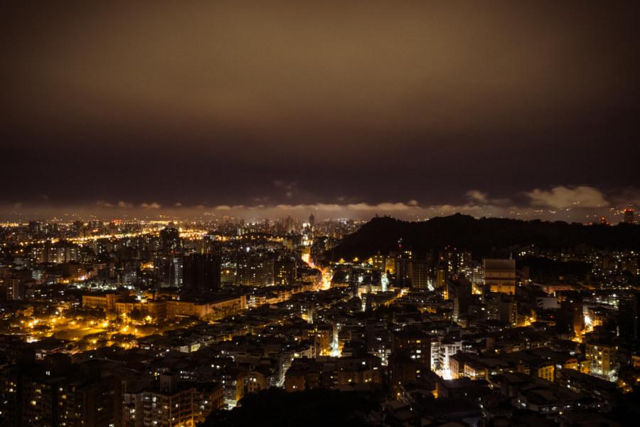 Taipei at night from Xianjiyan