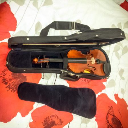 A found violin in Wenshan