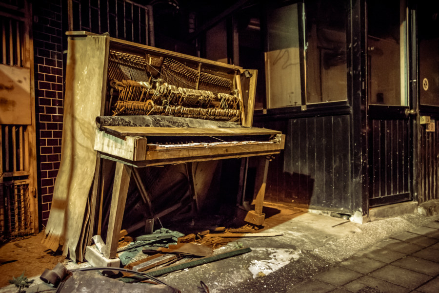 A found piano on the streets of Wenshan
