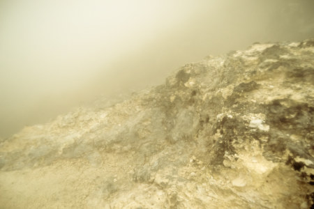 More steaming fumaroles in the fog