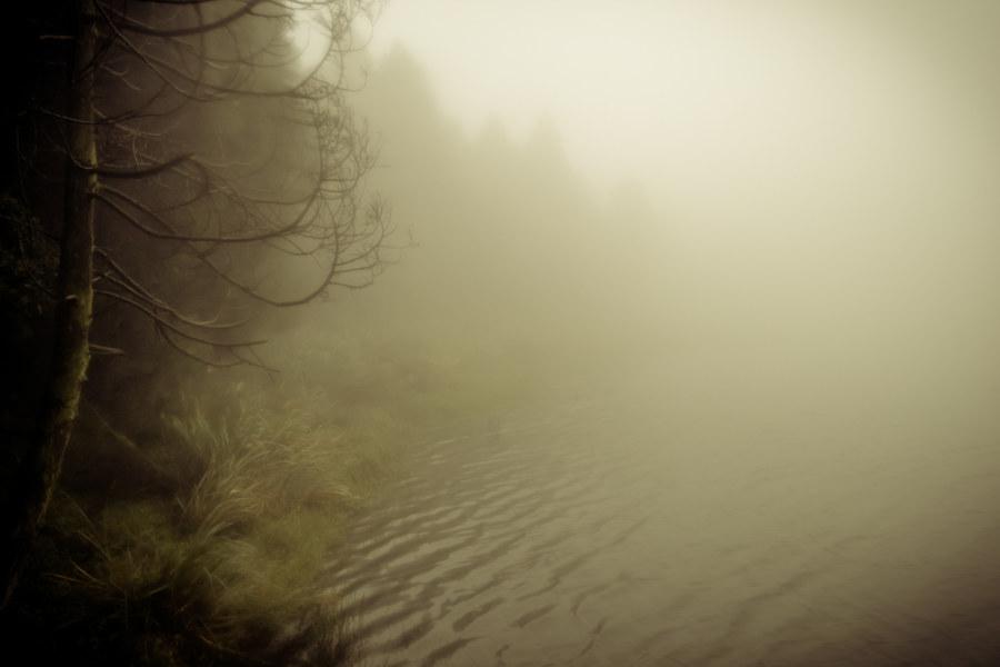 Menghuan pond in the fog