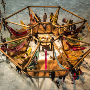 Hammock and tea at the Taipei Biennial 2014