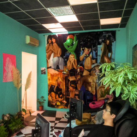 Bizarre back room at the Taipei Biennial 2014
