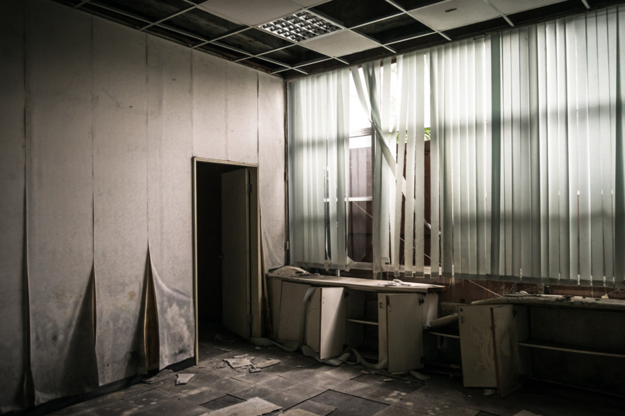 An abandoned office at the second Taipei City Council building