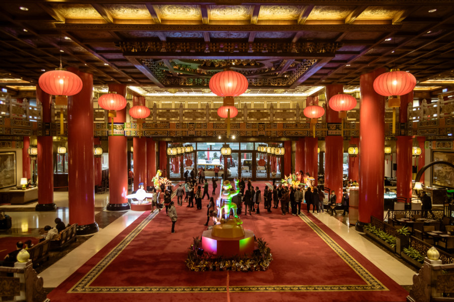 The lobby of the Grand Hotel 圓山大飯店