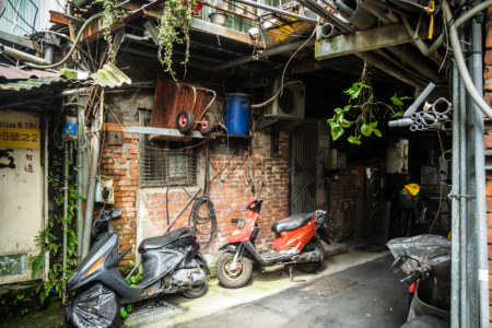 Junk mansion in Fushui Village