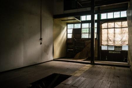 Broken floor in a Japanese dormitory