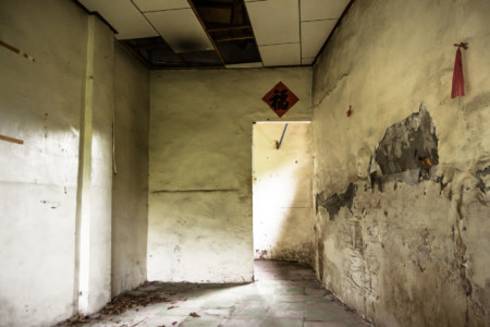 An empty space inside Jiahe New Village