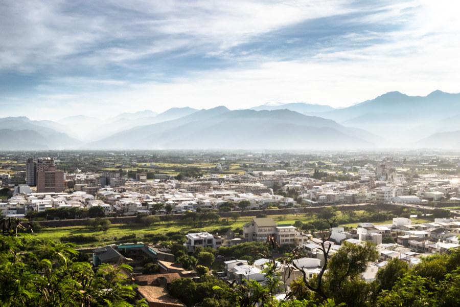 Looking northwest from Liyushan 鯉魚山 in Taitung City