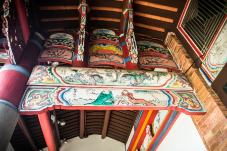 Another look at the wooden beams at Fanjiang Ancestral Hall