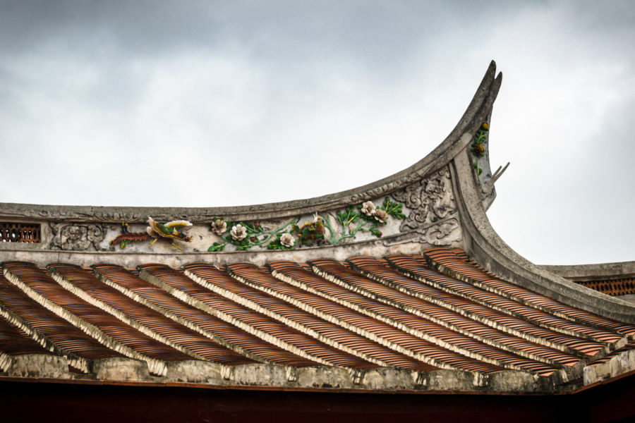 Roofing detail at Fanjian Ancestral Hall 范姜祖堂