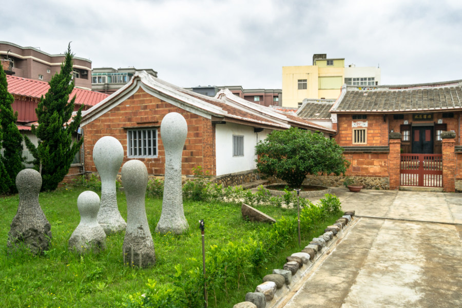 Strange art on the front lawn in Xinwu