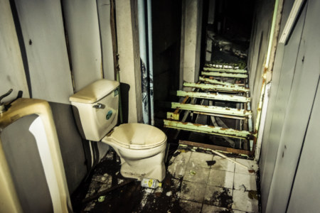 Perilous washroom at Dadong Theater