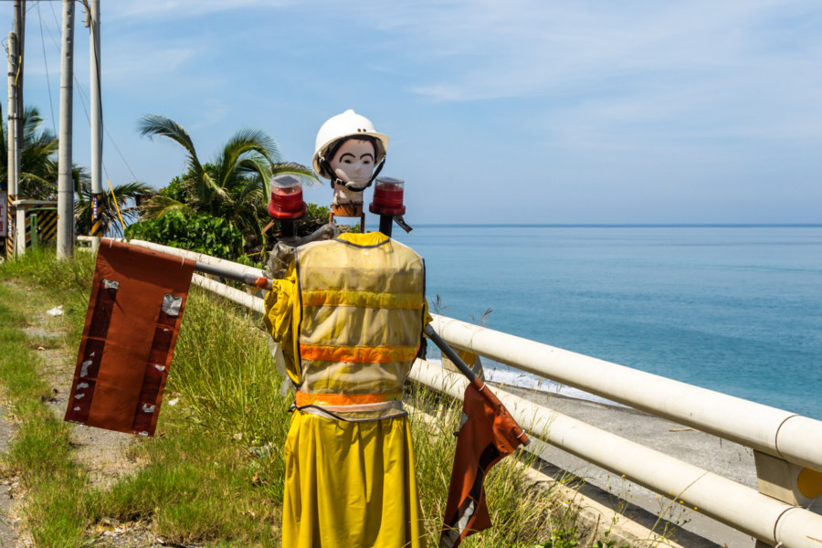 A warning dummy on the east coast of Taiwan