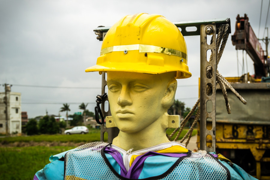 The face of construction