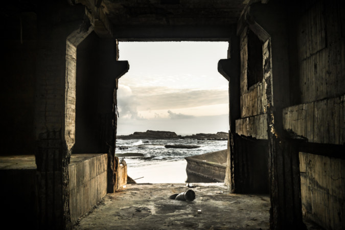 An abandoned installation at the easternmost tip of Taiwan