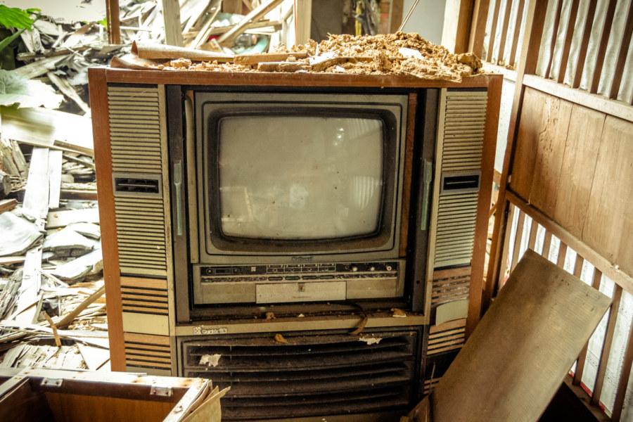 Abandoned television