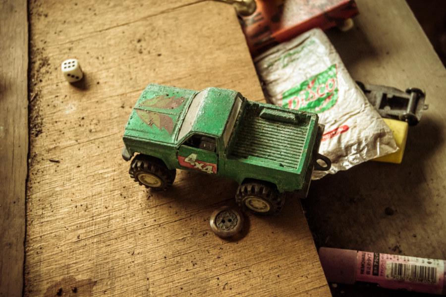 Leftover toys inside Jiangling New Village