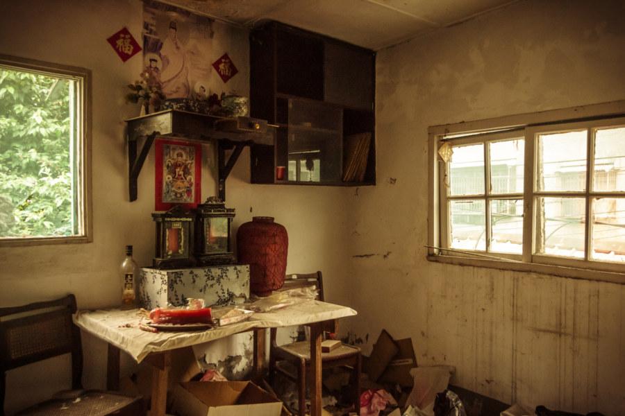 Forgotten shrine inside Jiangling New Village