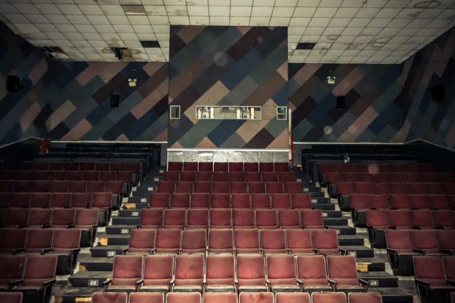Inside an abandoned theater in Yonghe