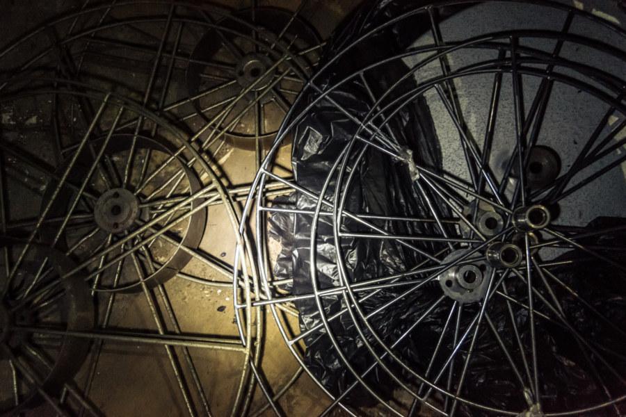 Abandoned film reels