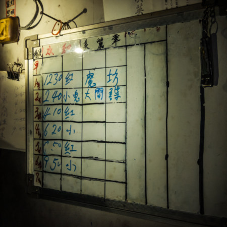 Whiteboard in the projection room