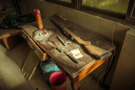 Abandoned air gun