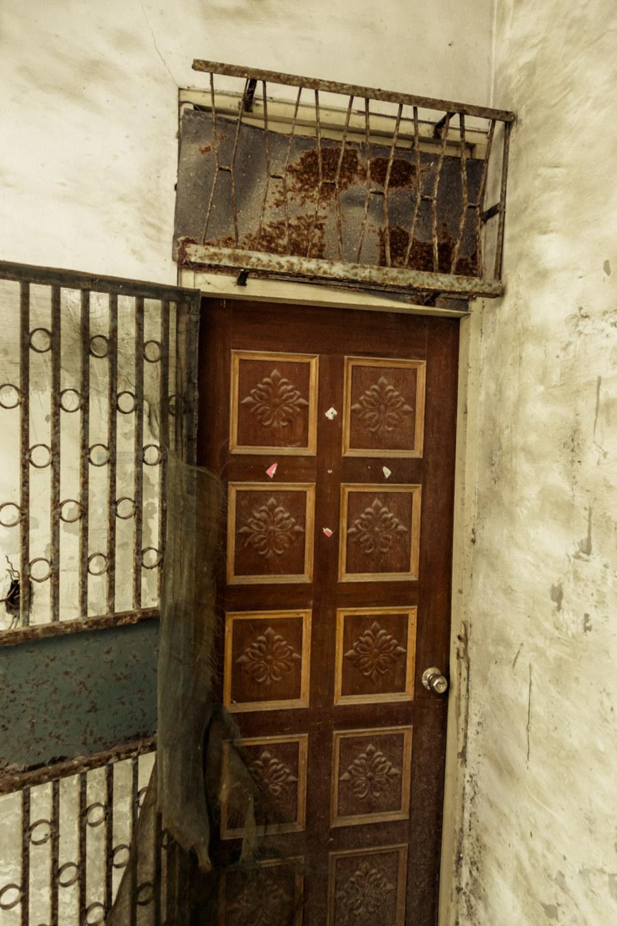 A cruddy old door