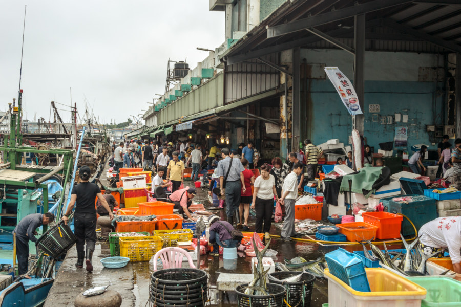 Nanfangao fish market