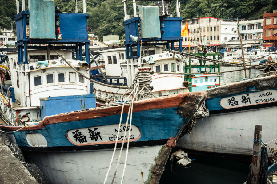 Fishing boats in Nanfangao harbour