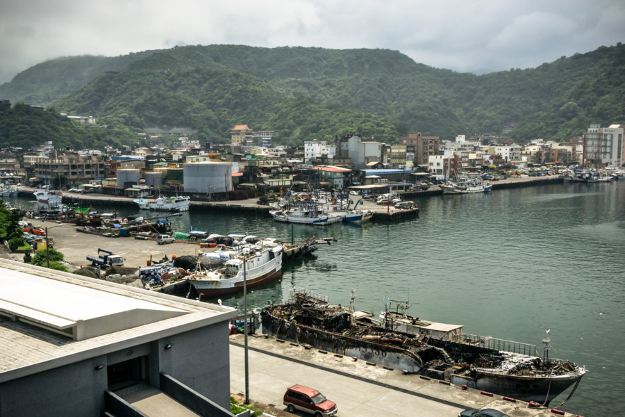 Overlooking the harbour in Nanfangao
